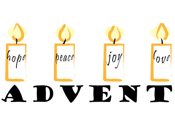 Advent Candles with Messages